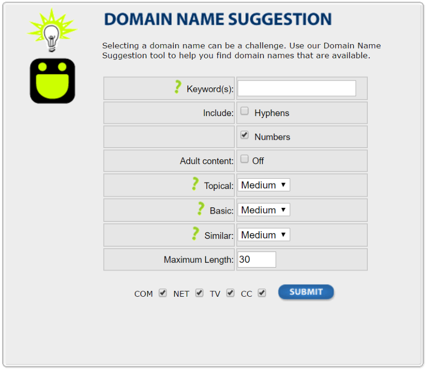 Domain Name Suggestion