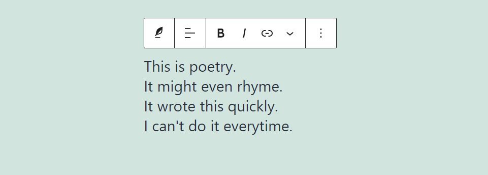 古腾堡编辑器教程:如何使用WordPress诗篇区块-4