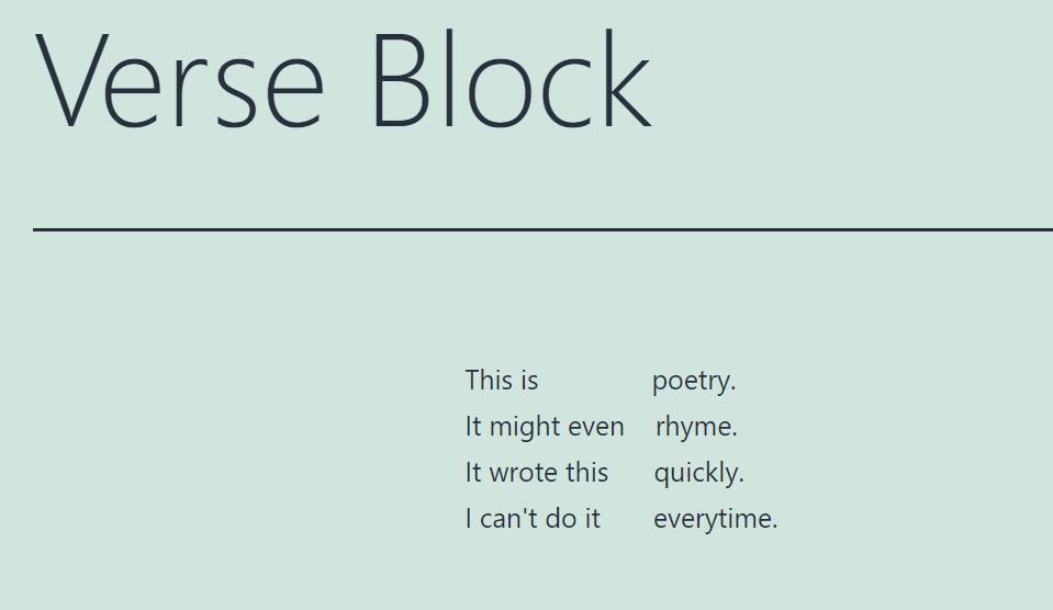 古腾堡编辑器教程:如何使用WordPress诗篇区块-5