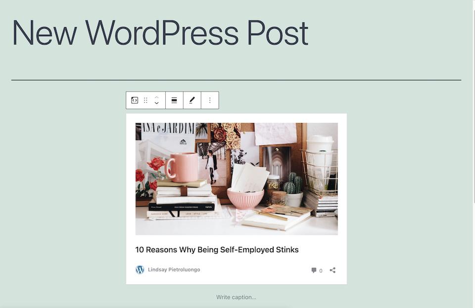 古腾堡编辑器教程:如何使用WordPress嵌入区块-3