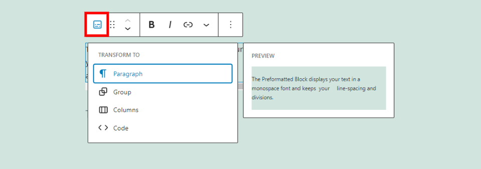 How to Use the WordPress Preformatted Block-1