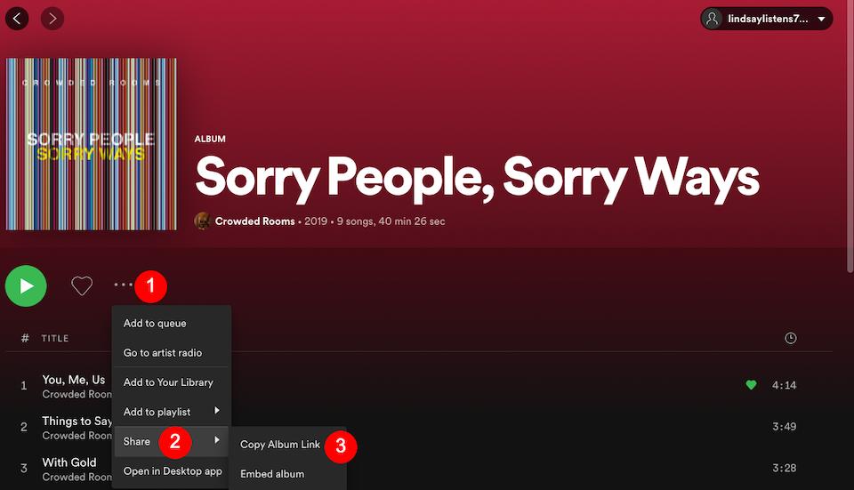 Spotify专辑或播放列表链接