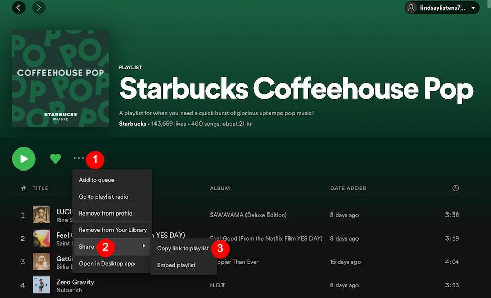 Spotify播放列表链接