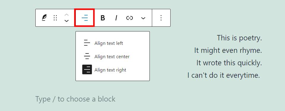 古腾堡编辑器教程:如何使用WordPress诗篇区块-10