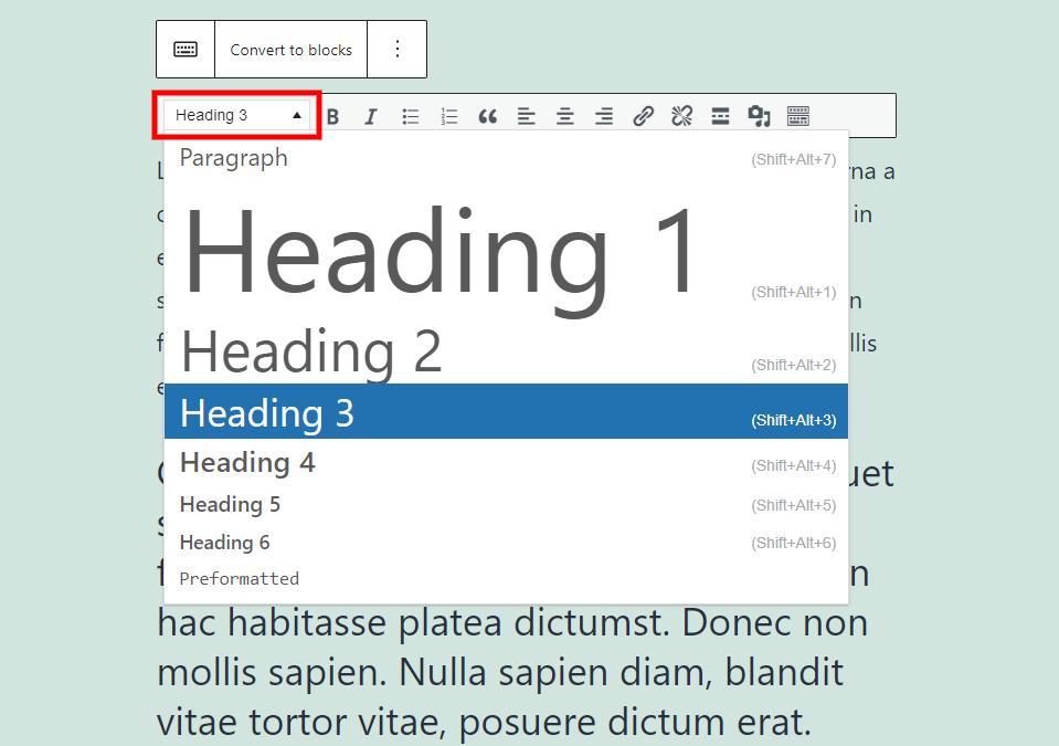 古腾堡编辑器教程:如何使用WordPress经典区块-13