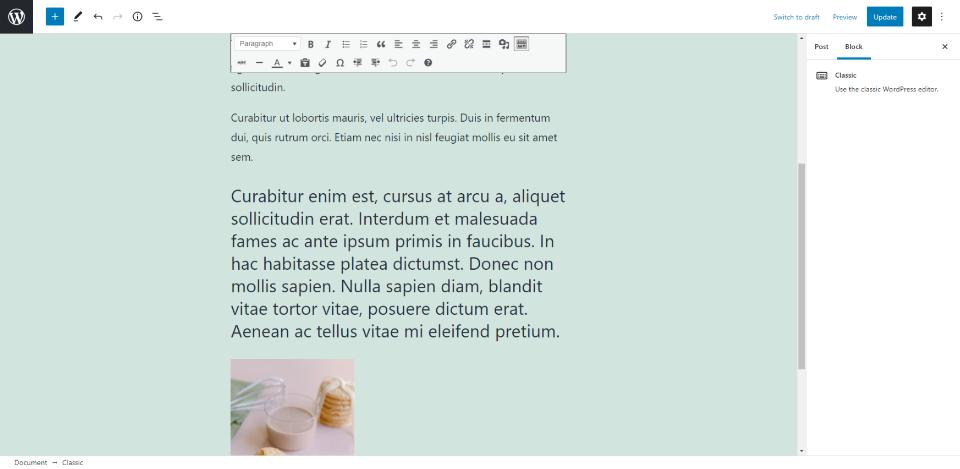 古腾堡编辑器教程:如何使用WordPress经典区块-31