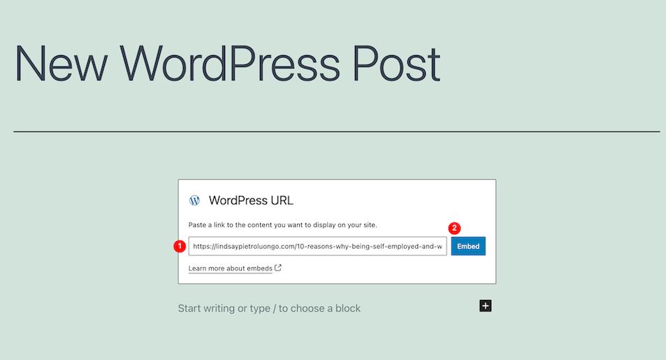 古腾堡编辑器教程:如何使用WordPress嵌入区块-7