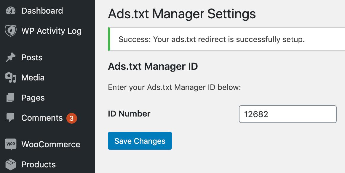 Ads.txt Manager插件设置