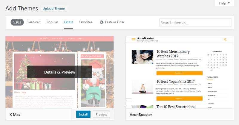 如何安装WordPress主题-2