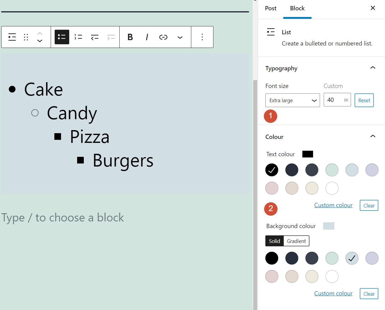 古腾堡编辑器教程:如何使用WordPress列表区块-8