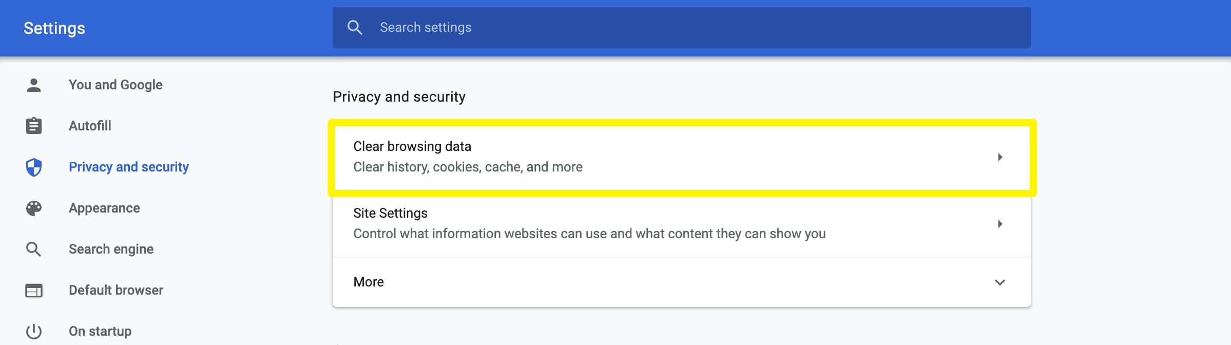 清理Chrome缓存