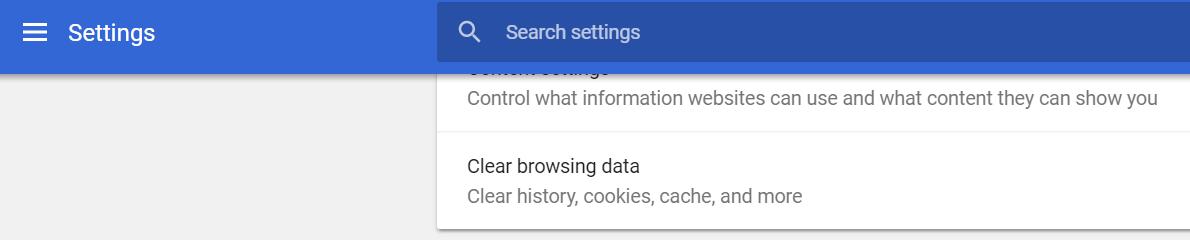清除浏览数据