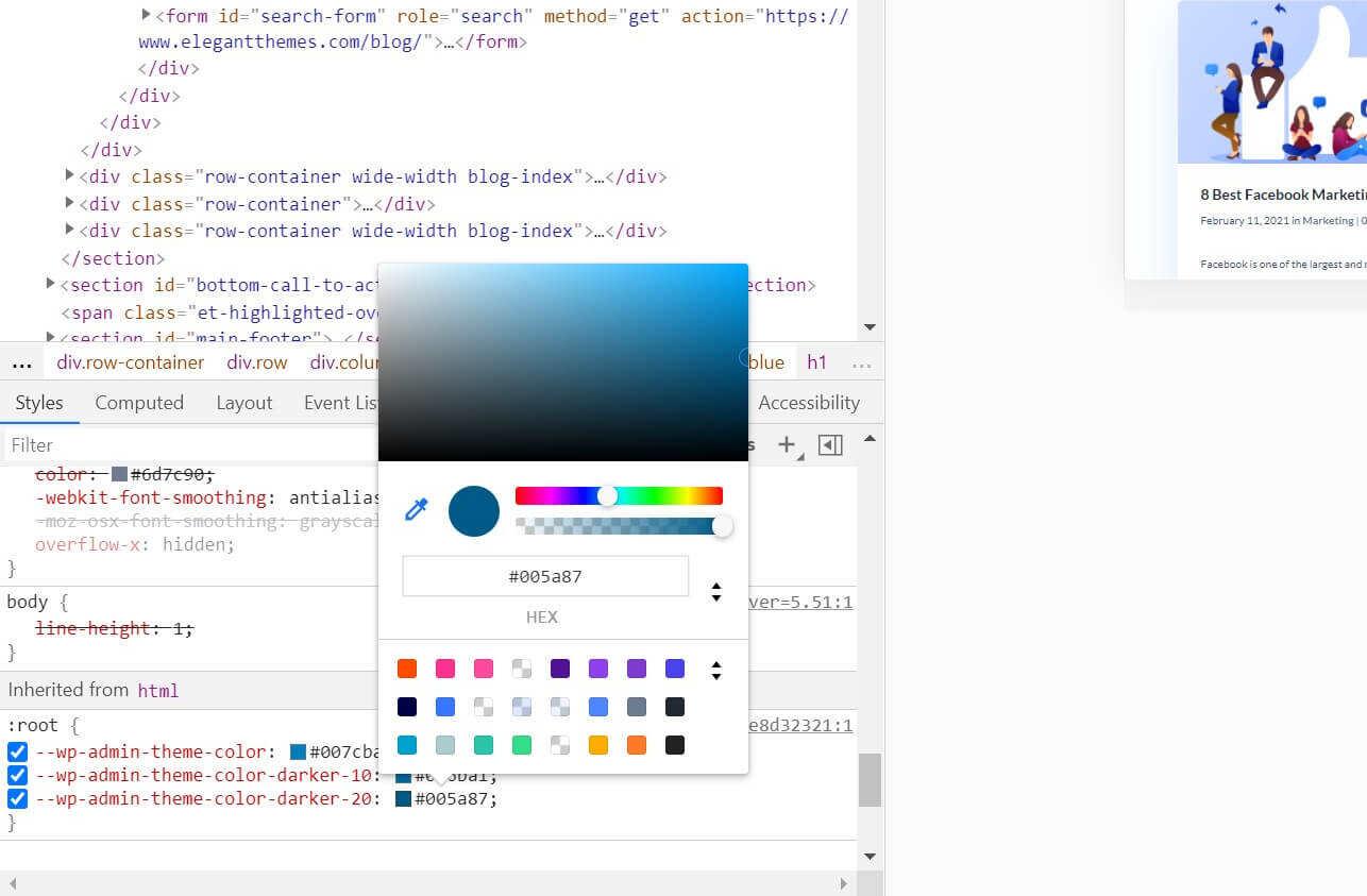 浏览器颜色选择器