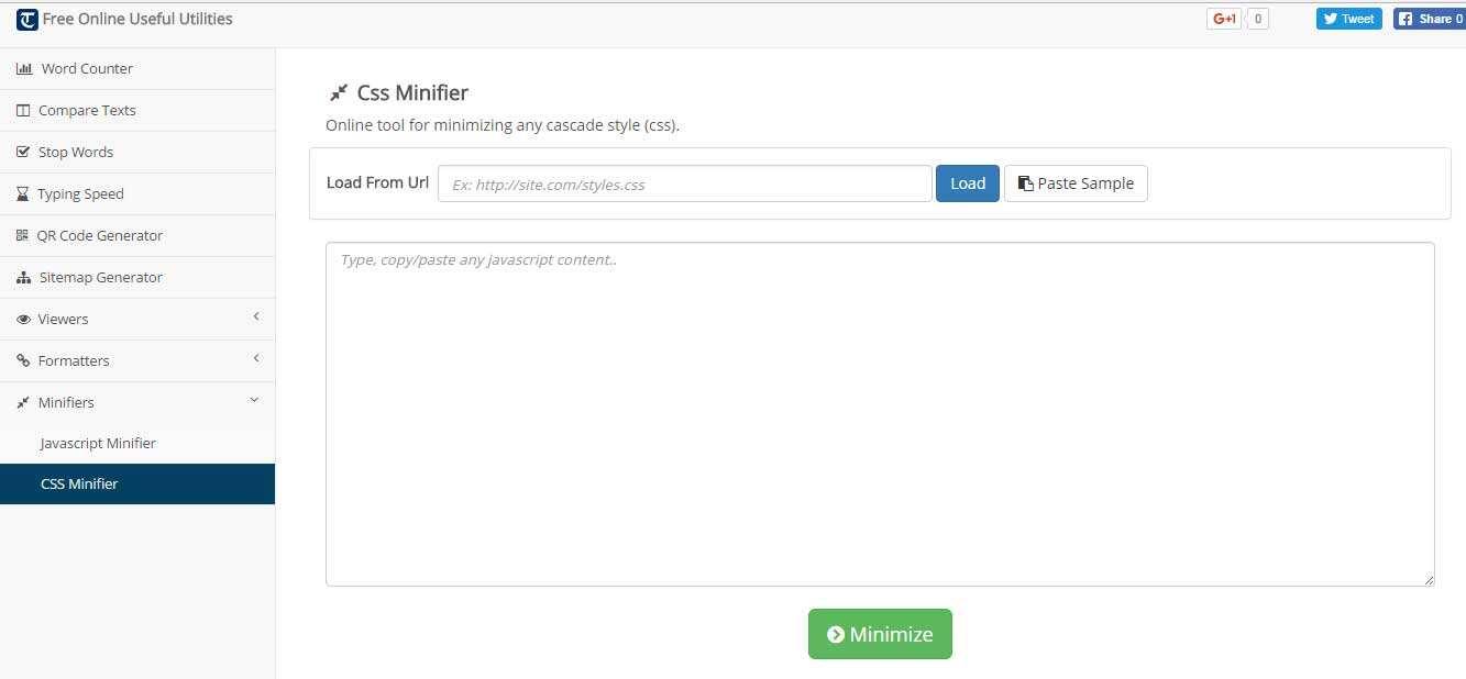 27个免费在线CSS文件极简化工具-11