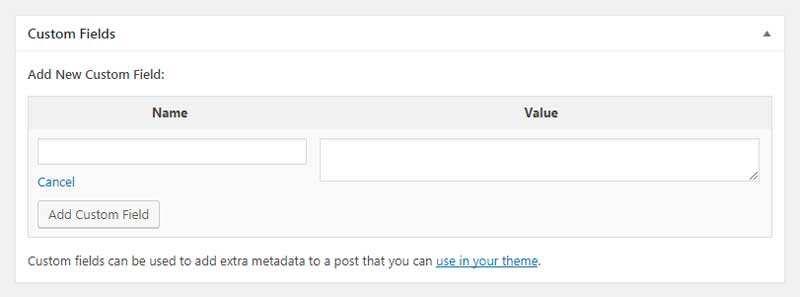 如何为WordPress文章添加自定义字段-2
