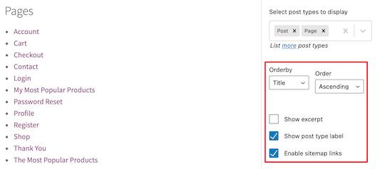 HTML站点地图展示设置