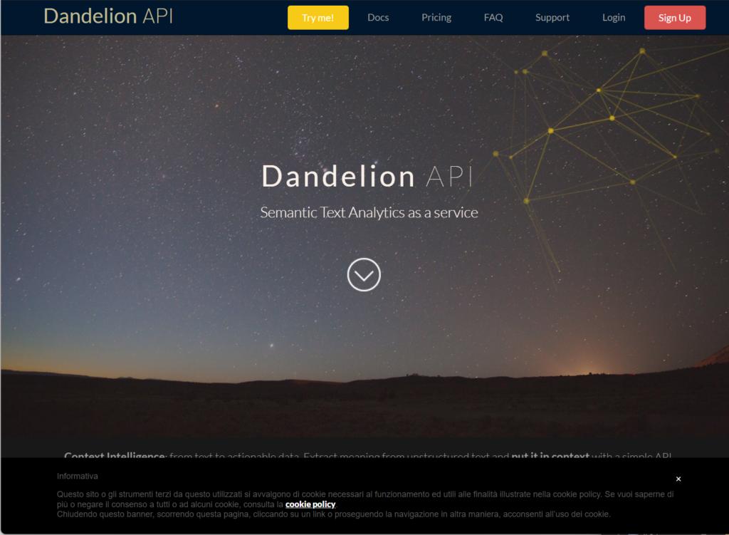 dandelion网站注册