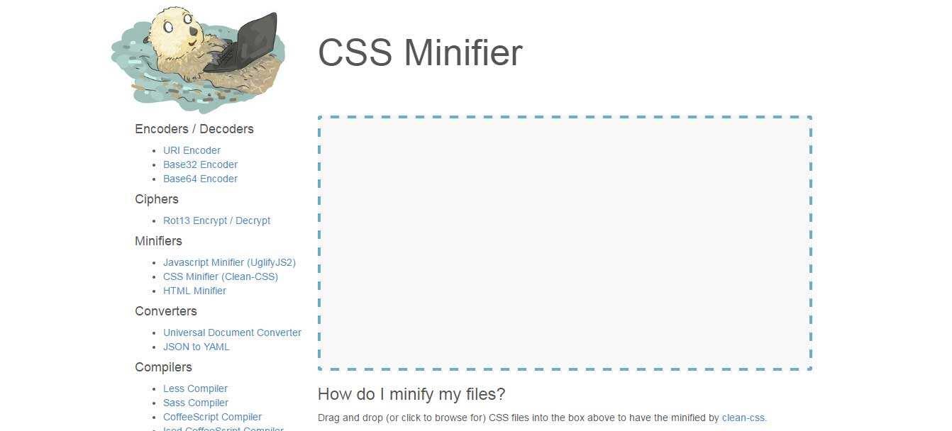 27个免费在线CSS文件极简化工具-1