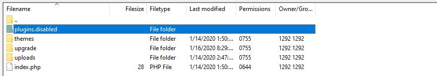 FTP禁用插件
