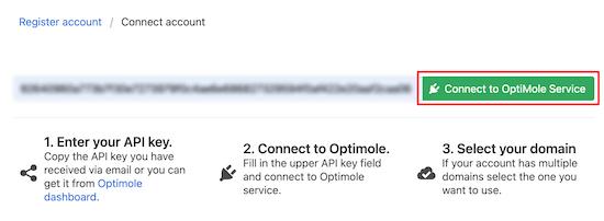 Optimole服务连接
