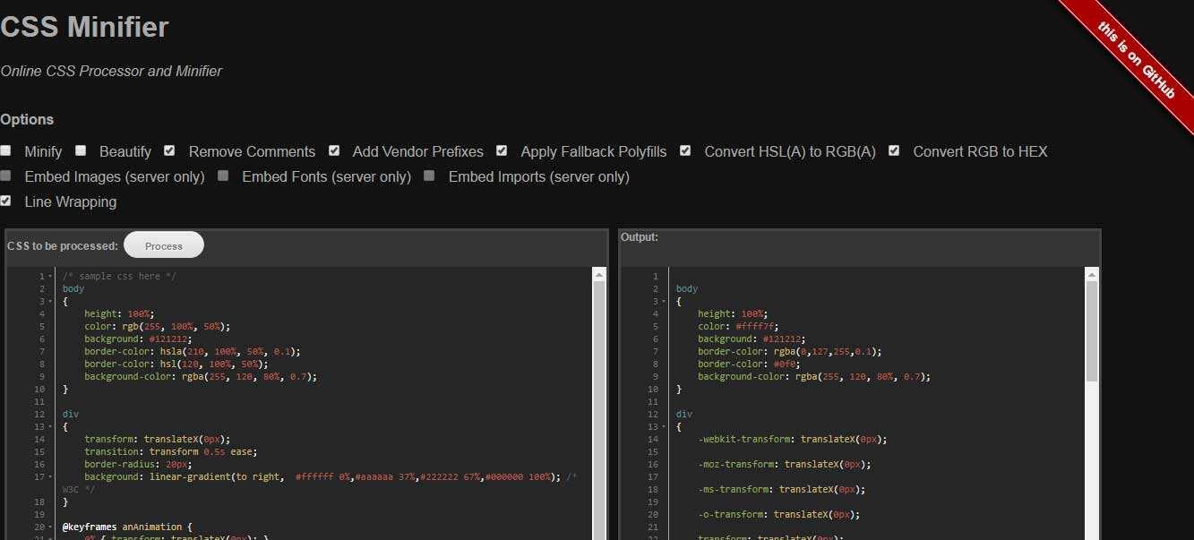 27个免费在线CSS文件极简化工具-13