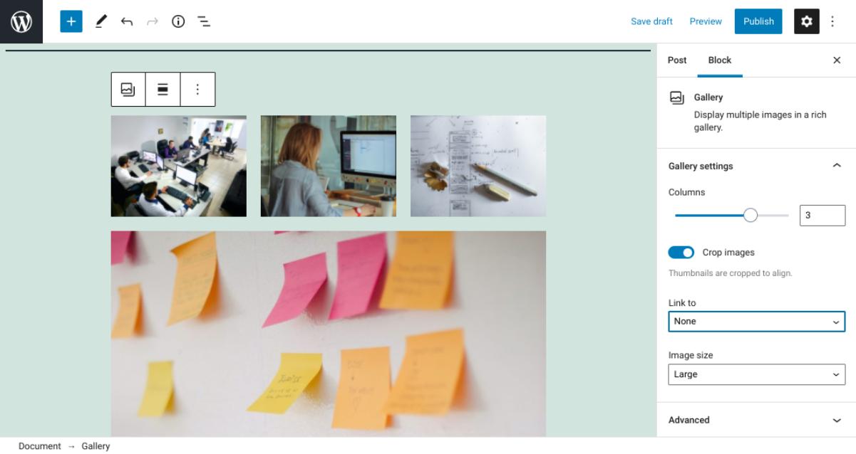 古腾堡编辑器教程:如何使用WordPress画廊区块-4