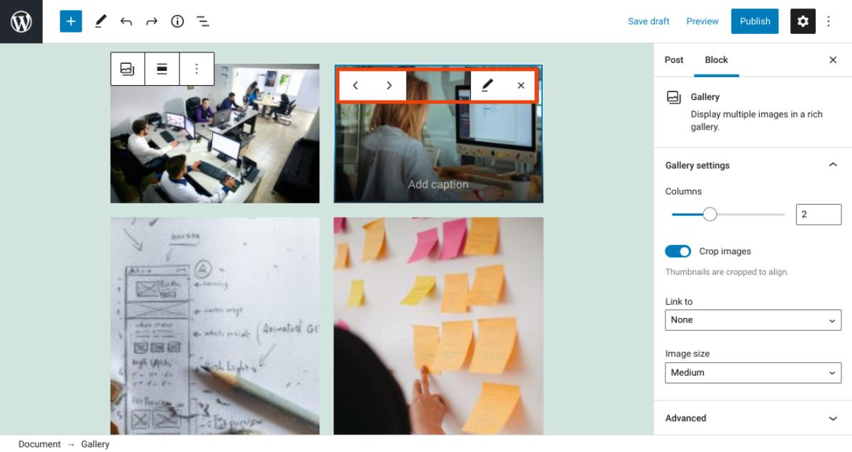 古腾堡编辑器教程:如何使用WordPress画廊区块-8