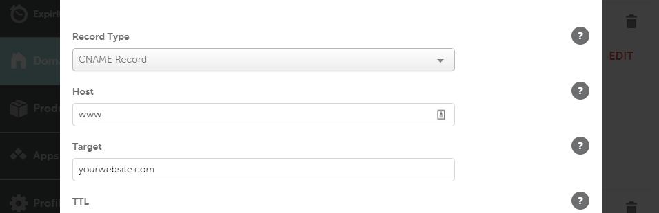 www指向根域名CNAME记录