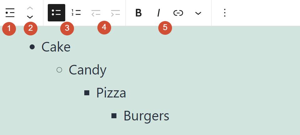 古腾堡编辑器教程:如何使用WordPress列表区块-5