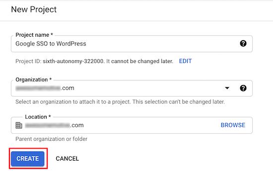 新建Google开发者项目2