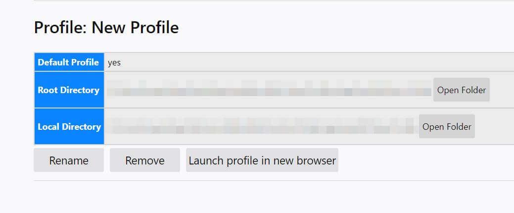 新建Firefox配置文件