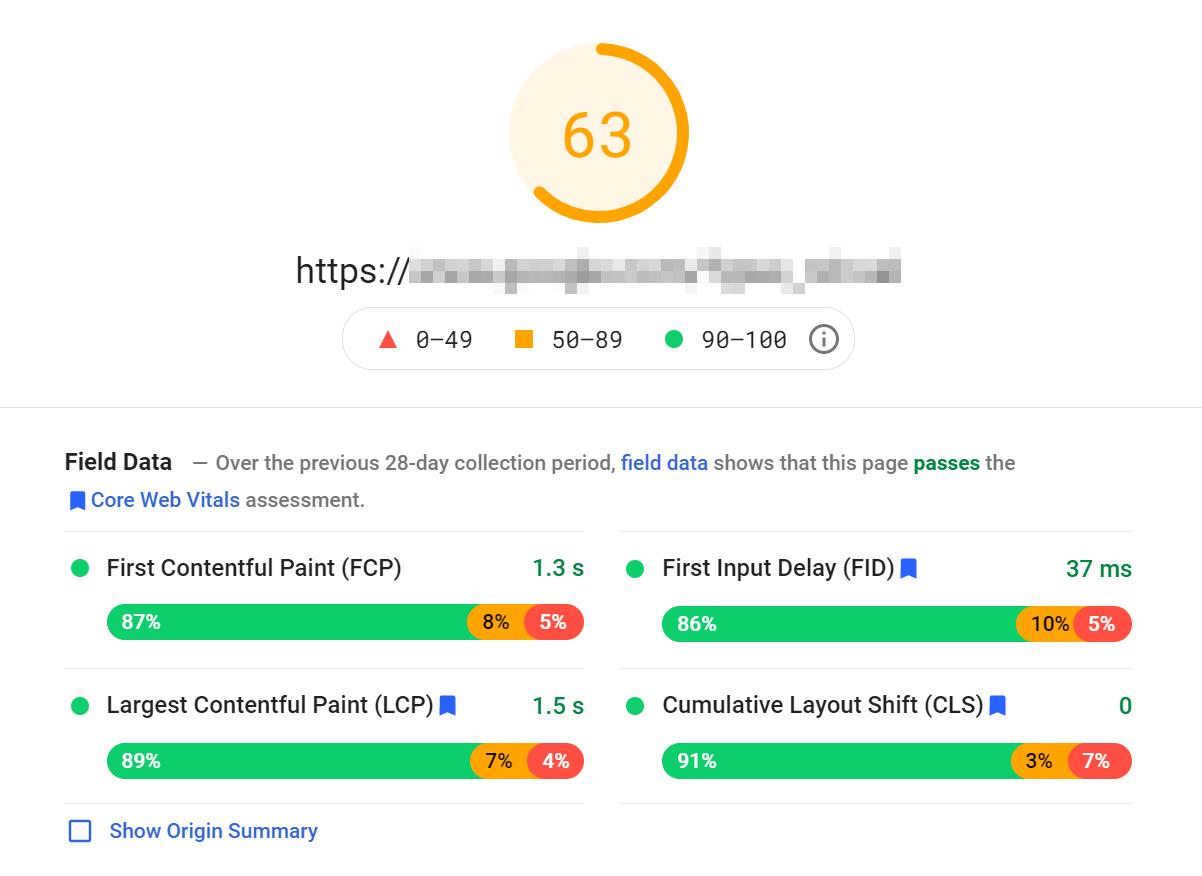 PageSpeed Insights网站评分