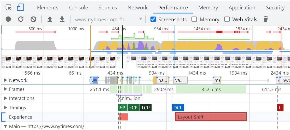 Chrome开发工具页面加载时间轴