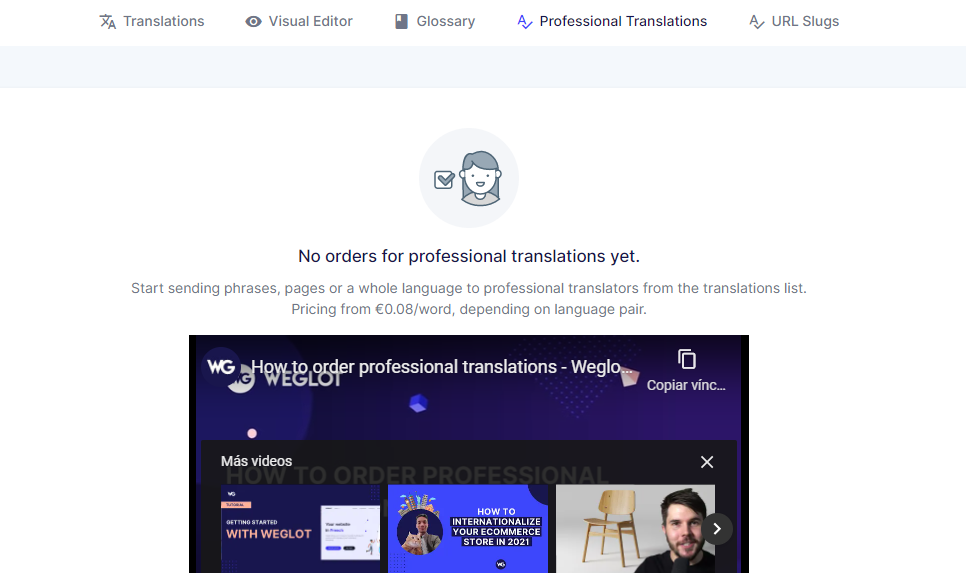 Weglot专业翻译选项