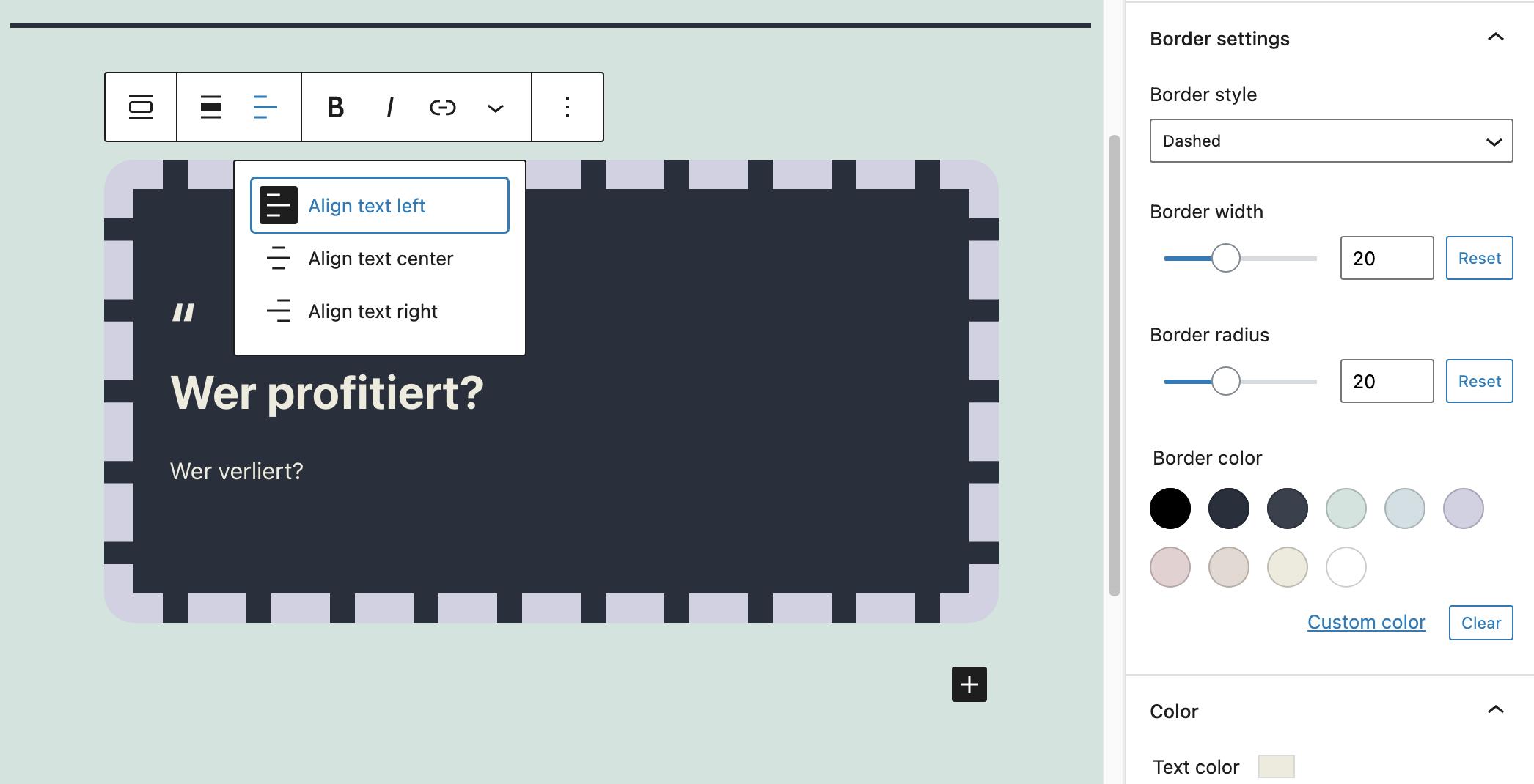 Gutenberg 11.2扩展了对搜索和Pullquote区块的颜色支持,为组区块引入了实验性Flex布局-2