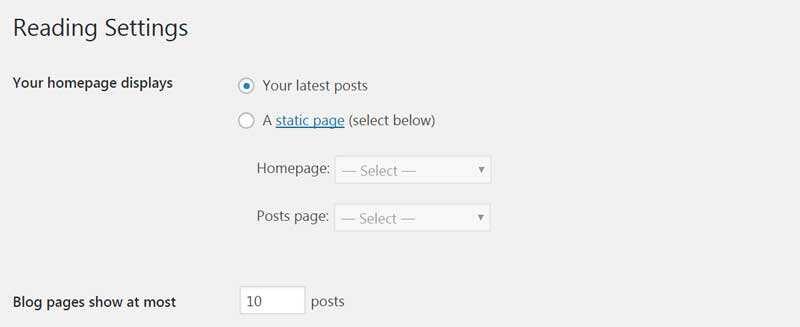 WordPress网站首页设置