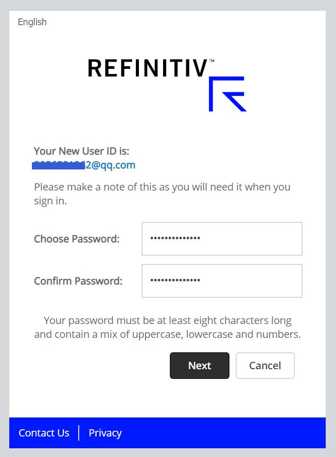 refinitiv账号密码设置