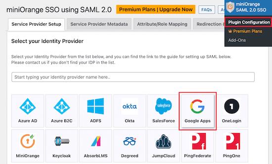 SAML Single Sign On设置