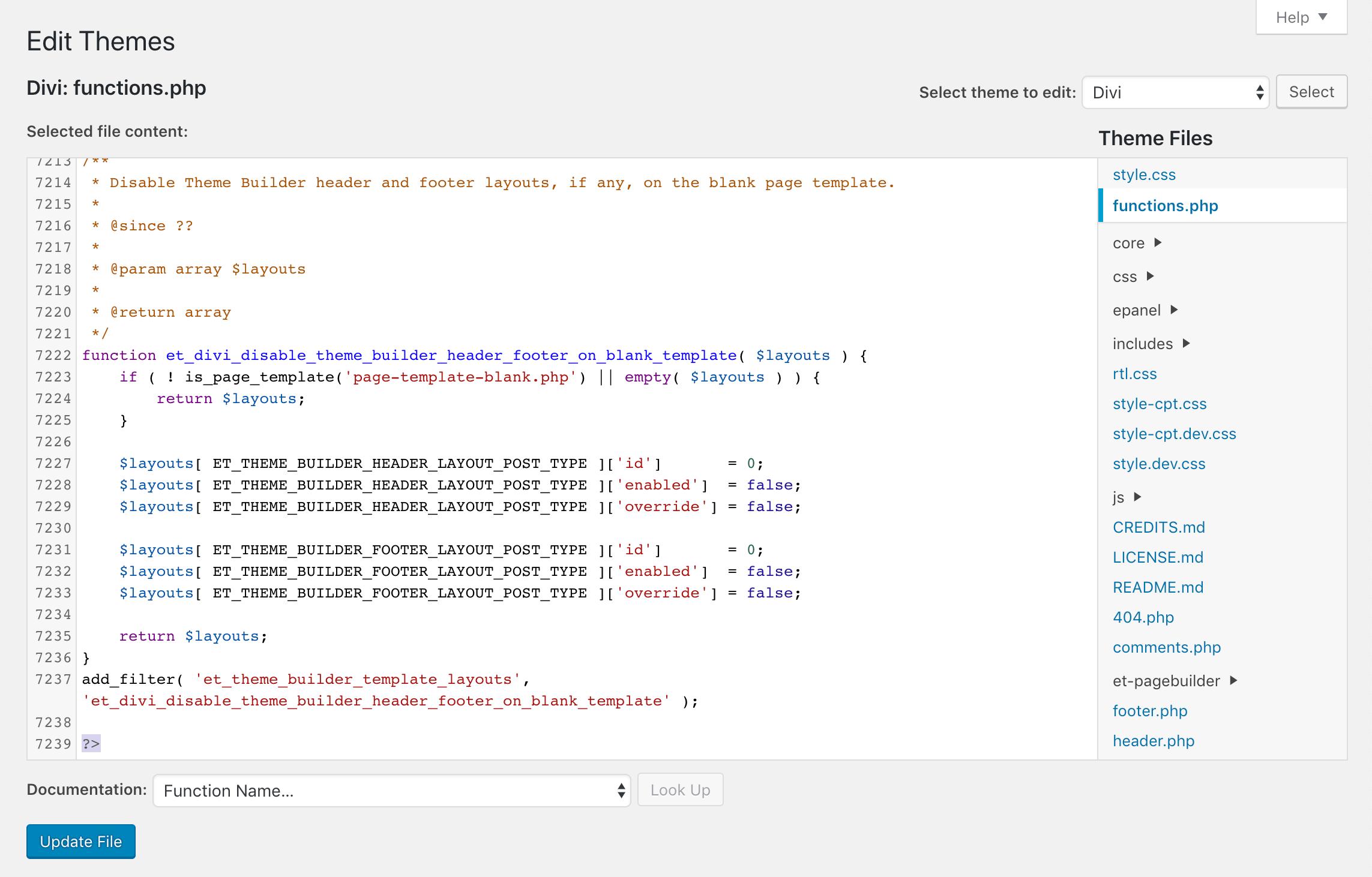 删除主题functions.php空行