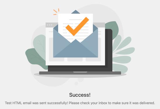 邮件发送成功提示