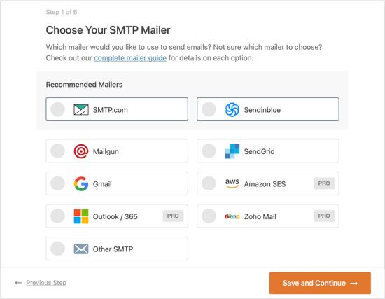 SMTP服务商列表