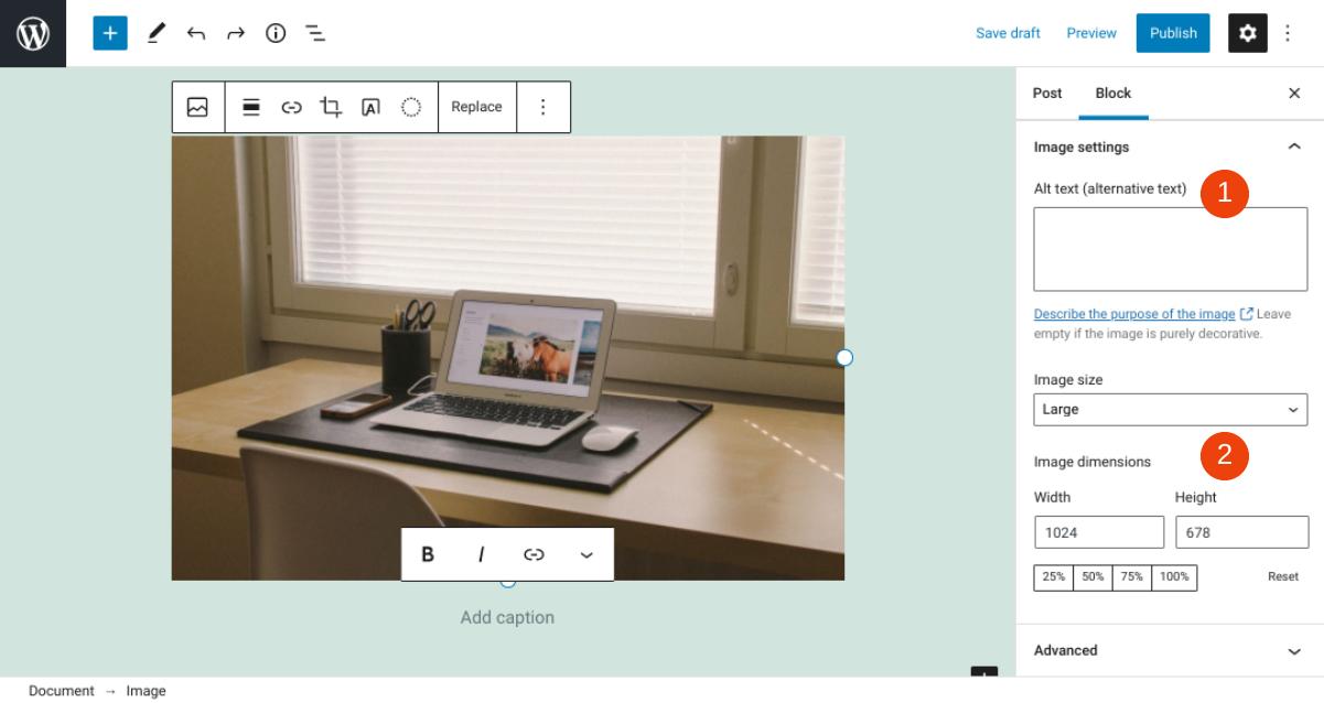 古腾堡编辑器教程:如何使用WordPress图片区块-11