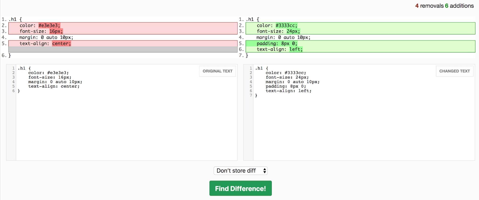 CSS样式文件对比