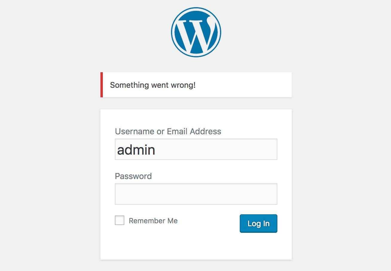 WordPress登录报错信息
