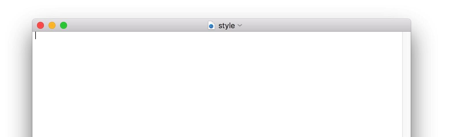 空白CSS文件