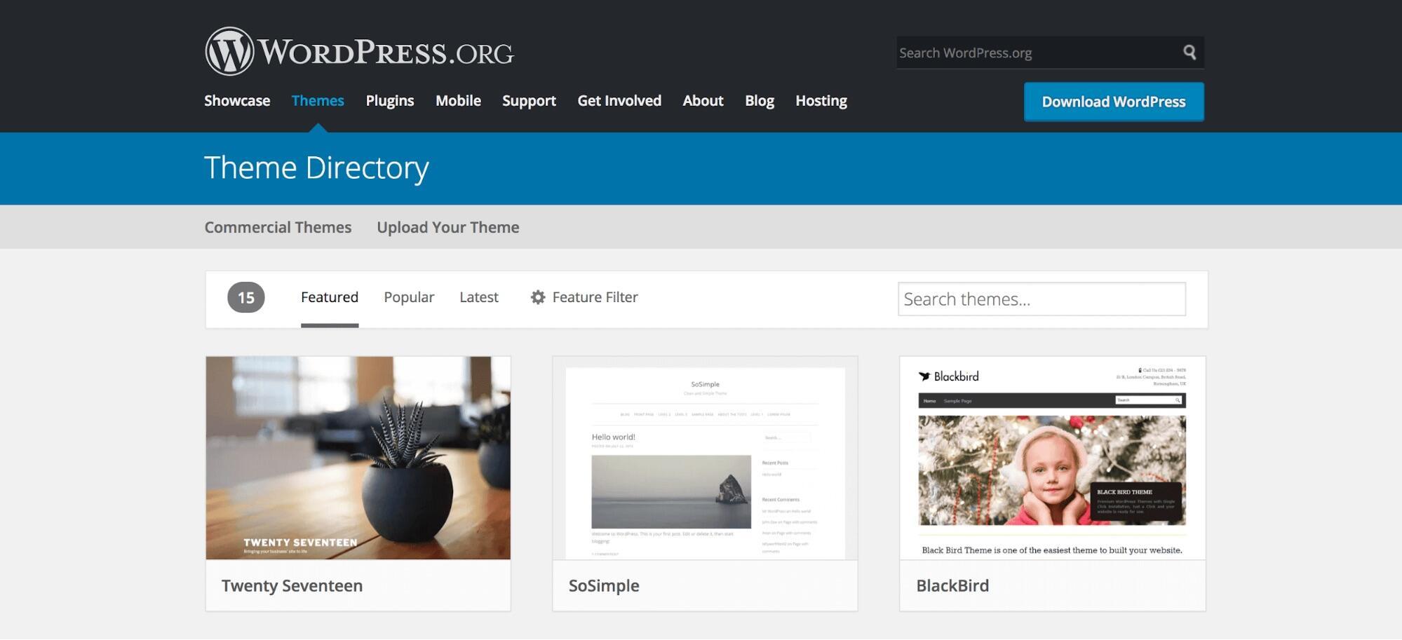 WordPress主题目录