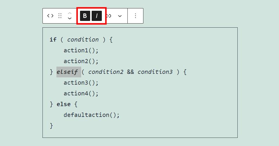 代码区块字体设置