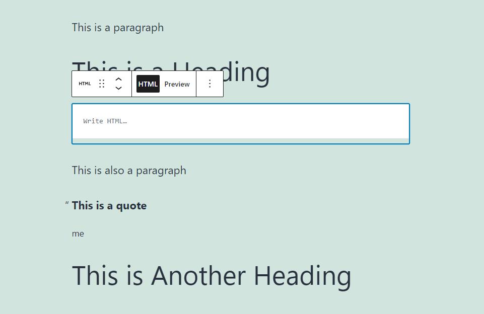 自定义HTML区块HTML内容