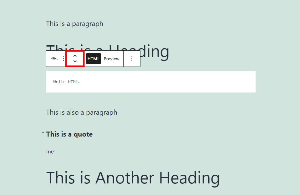 自定义HTML区块移动
