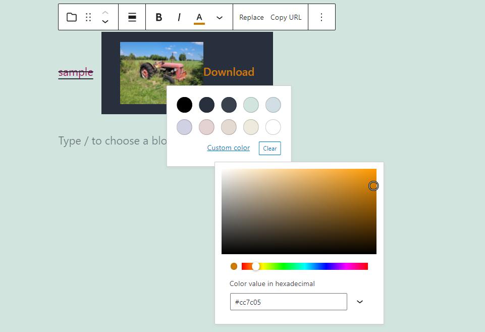 文件区块下载按钮文字颜色